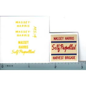 Decal 1/20 Massey Harris Combine Harvest Brigade Set