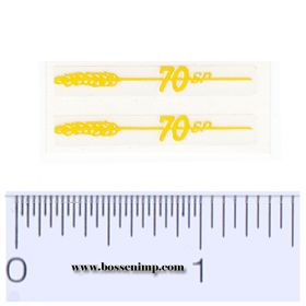 Decal 1/16 Massey Harris Combine 70 SP Model Number,  Yellow (pair)