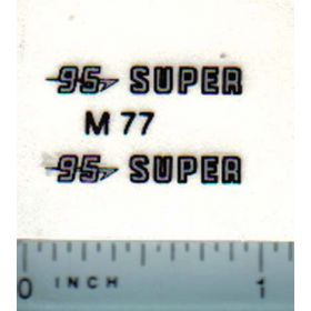 Decal 1/16 Massey Harris 95 Super