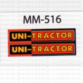 Decal 1/16 Minneapolis Moline Uni-Tractor