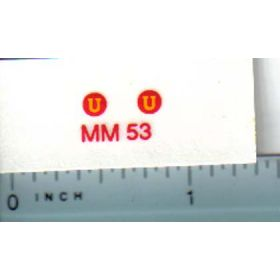 Decal 1/16 Minneapolis Moline U Model Numbers
