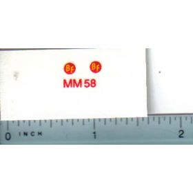 Decal 1/16 Minneapolis Moline BF Model Numbers