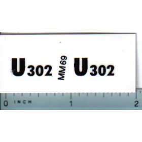Decal 1/16 Minneapolis Moline U302 Model Numbers