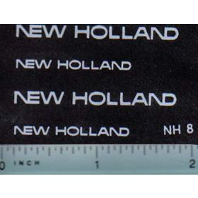Decal 1/16 New Holland (white)