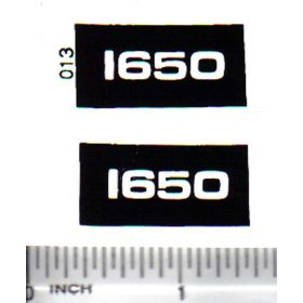 Decal 1/16 Oliver 1650 Model Numbers
