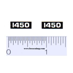 Decal 1/16 Oliver 1450 Model Numbers (Pair)