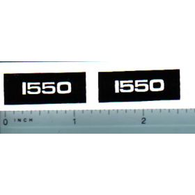 Decal 1/16 Oliver 1550 Model Numbers