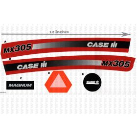 Decal Case IH MX-305 Pedal