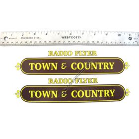 Decal Radio Flyer Town & Country Wagon (Brown & Yellow)