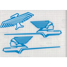 Decal Radio Flyer Radio Chief Chiefs & Phoenix blue