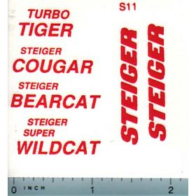 Decal 1/16 Steiger Tiger, Cougar, Bearcat, or Wildcat Decal Set (red print)