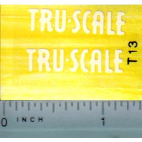 Decal 1/16 Tru Scale (cream)