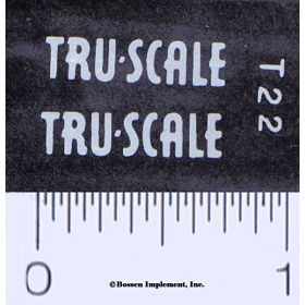 Decal 1/16 Tru Scale white