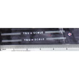 Decal 1/16 Tru Scale Hood Stripes & Front Logo white
