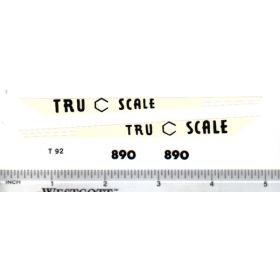 Decal 1/16 Tru Scale 890 Hood Stripes cream
