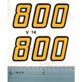 Decal 1/16 Versatile 800 Series 2 Mo. # (early)
