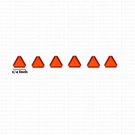 Decal SMV Slow Moving Vehicle 1/64 set of 6