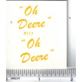 Decal 1/16 Oh Deere