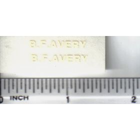 Decal 1/16 BF Avery - Cream Large