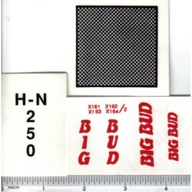 Decal 1/16 Big Bud HN-250 Set