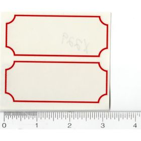 Decal Red Stripes (Pair)