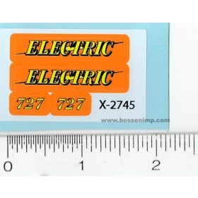 Decal 1/16 Electric wagon flarebox