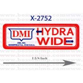 Decal 1/16 DMI Hydra Wide plow