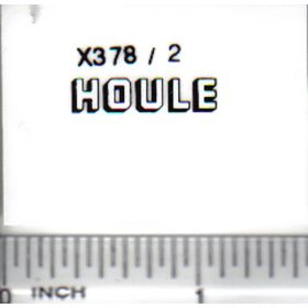 Decal 1/64 Houle - White, Black