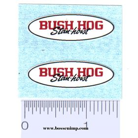 Decal 1/16 Decal Bush Hog Stan-hoist