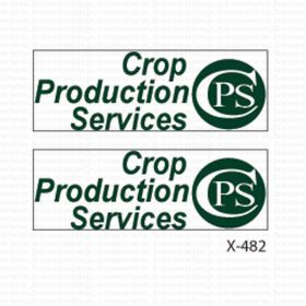 Decal 1/64th Crop Production Services (Pair)