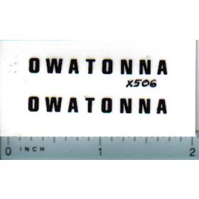 Decal 1/16 Owatonna