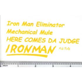 Decal 1/16 Iron Man Eliminator Set - Yellow