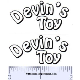 Decal 1/16 Devin's Toy Decals (White, Black on Clear)  (Pairs)