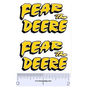 Decal 1/16 Fear the Deere yellow