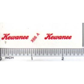 Decal 1/16 Kewanee - Red