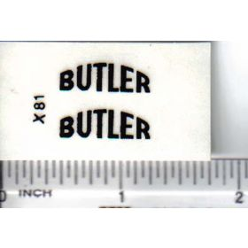 Decal Butler - Arched 3/4in.