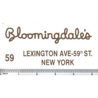 Decal 1/16 Bloomingdales - Gold