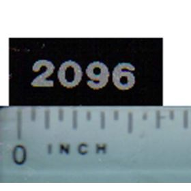 Decal 1/16 Case IH 2096 Model Numbers (silver on black)