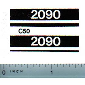 Decal 1/16 Case 2090 Model Numbers (white on black)