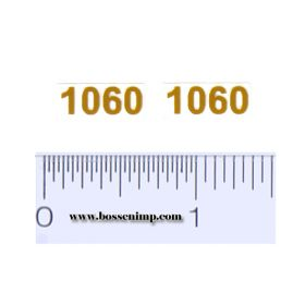 Decal 1/16 Case 1060 Model Number, Light Yellow (pair)