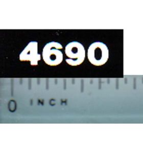 Decal 1/16 Case 4690 Model Numbers (white on black)