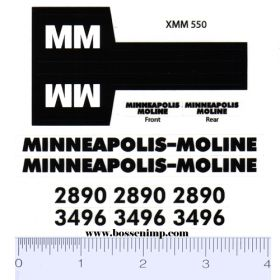 Decal 1/16 MM Combine 2890 or 3496 Complete Set