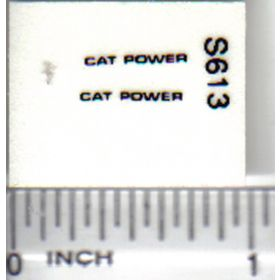 Decal 1/32 Cat Power