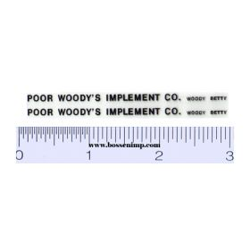 Decal Poor Woody's Implement Co. (Pair)