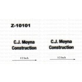 Decal 1/50 C.J. Moyna Construction