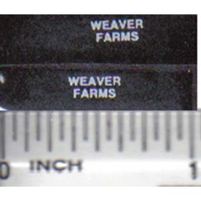 Decal 1/64 Weaver Farms - White