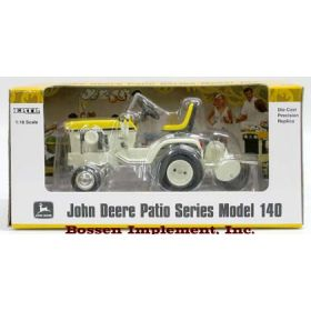 1/16 John Deere 140 Yellow Patio Tractor with Roto Tiller Precision Collection