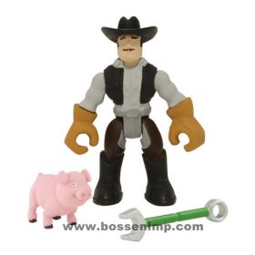 John Deere Gear Force Figure Man with pig