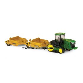 1/64 John Deere 9560RT with 2 pull type scrapers