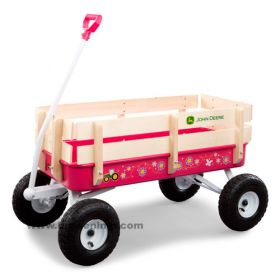 John Deere Wagon 36 inch Steel Stake pink revised graphics